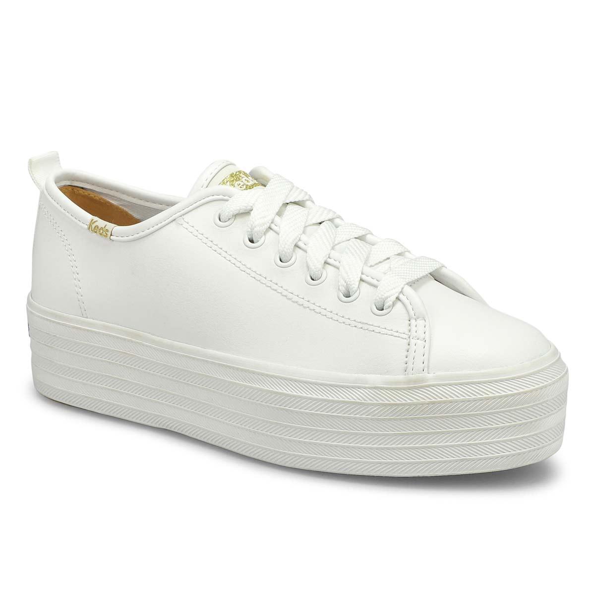 platform white keds