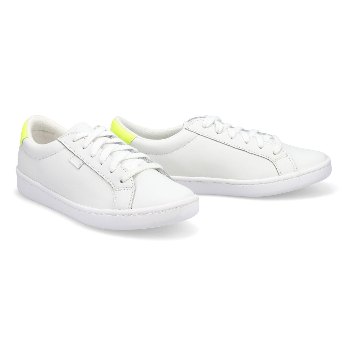 Women's Ace Leather Sneaker - White /Yellow