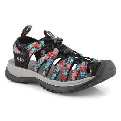 Women's WHISPER black/ multi sport sandals