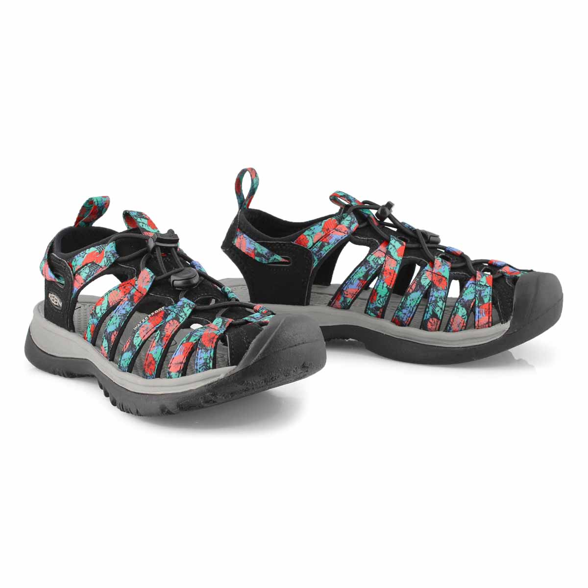 Sandales sport WHISPER, noir/multi, femmes