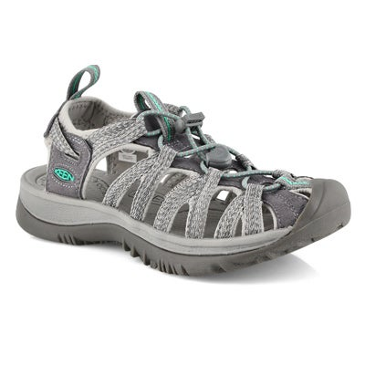 Women's WHISPER grey/ green sport sandals