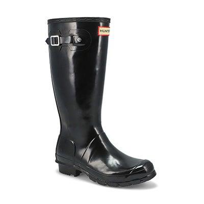 Grls Original Gloss Rain Boot-Black