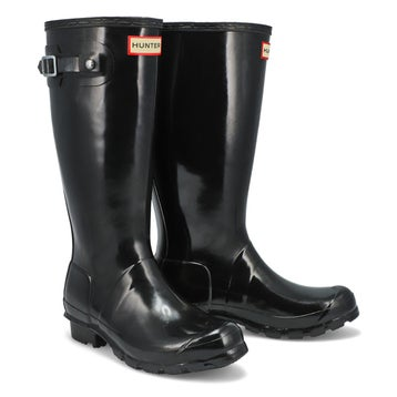 Girls' ORIGINAL YOUNG GLOSS black rain boots