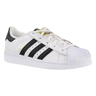 Adidas Espadrilles SUPERSTAR FOUNDATION, blnc/nr, enfants