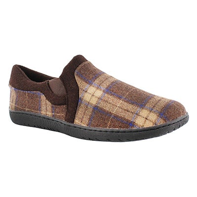 Foamtreads Men's BEAUMONT chocolate closed back slippers