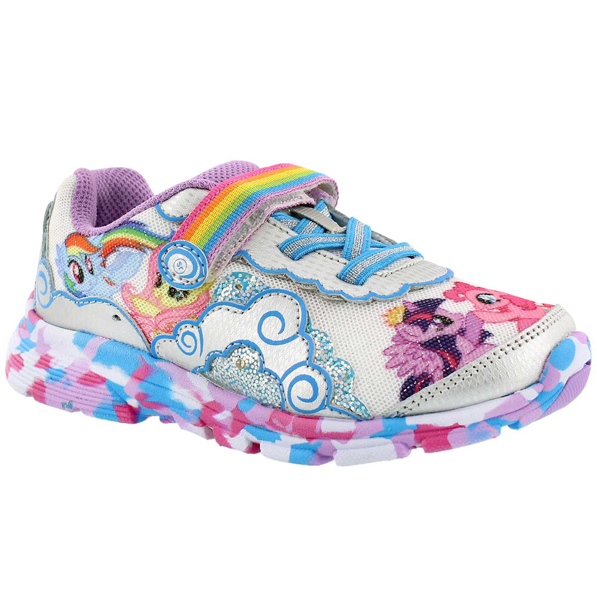 Girls' MY LITTLE PONY EQUESTRIA silver sneakers
