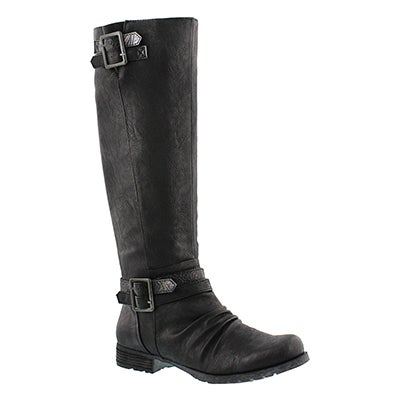 SoftMoc Women's BLIXI II black riding boots