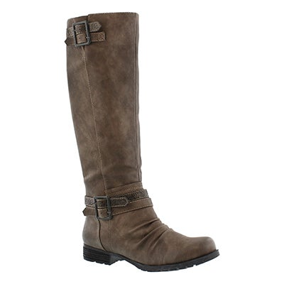 SoftMoc Women's BLIXI II grey riding boots
