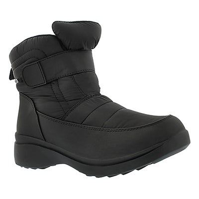 Lds Caprice black wtrpf lined boot