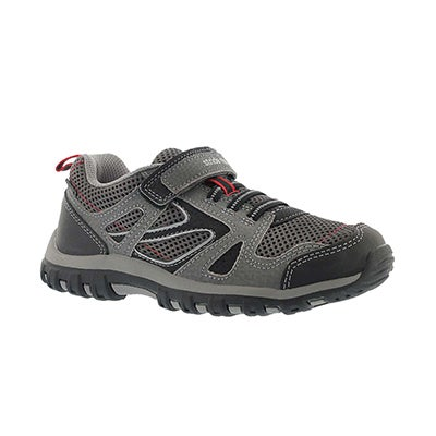 Stride Rite Boys' M2P ARTIN grey hook & loop sneakers