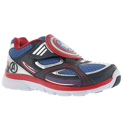 Stride Rite Boys' CAPTAIN AMERICA A/C blue sneakers