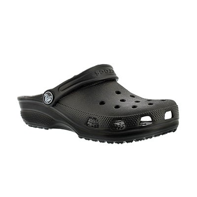 Crocs Kids' ORIGINAL CLASSIC black clogs