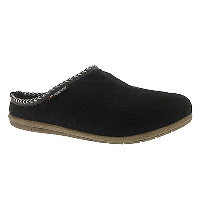 Foamtreads Men's CONCORD black open back slippers