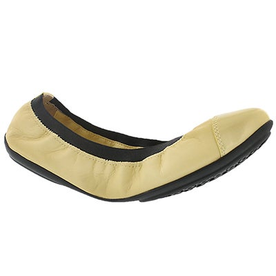 Geox Women's CHARLENE light yellow/blk dress flats