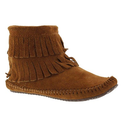 SoftMoc Women's DEBRA II HI copper suede back zip mocs