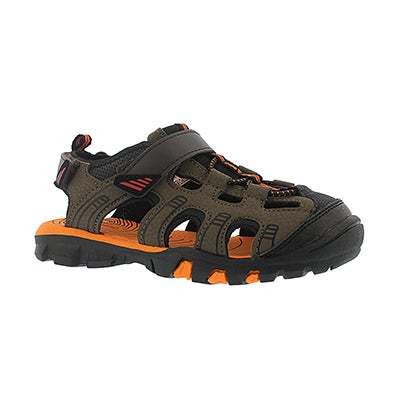 SoftMoc Boys' ELLIOT brown closed toe sandals