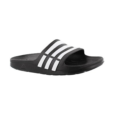 Adidas Kids' DURAMO SLIDE black sandals