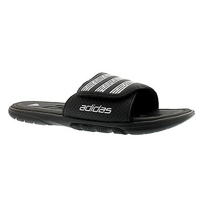 Adidas Men's ADILIGHT SUPERCLOUD black slide sandals