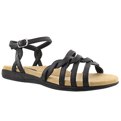 SoftMoc Women's GRACE black memory foam sandals