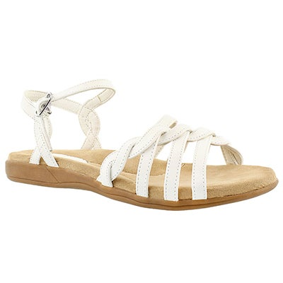 SoftMoc Women's GRACE white memory foam sandals