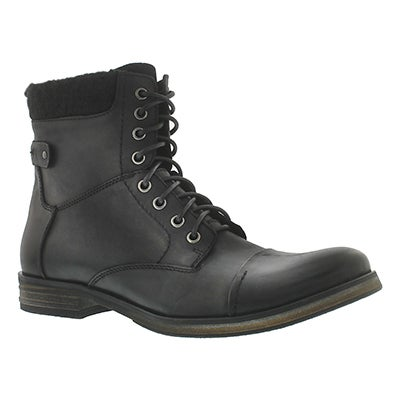 Mns Grasp blk 8eye oil lthr lace up boot