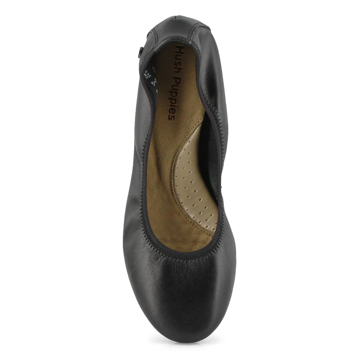 Lds Chaste Ballet black leather flat