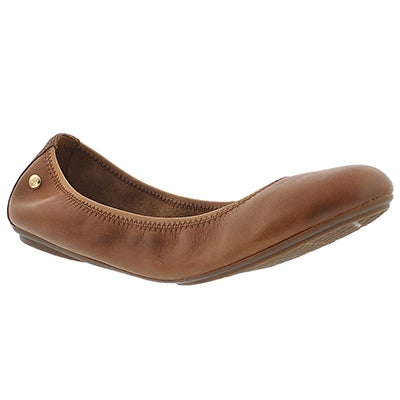 Hush Puppies Women's CHASTE BALLET cognac leather flats