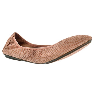 Hush Puppies Women's CHASTE BALLET clay embossed flats