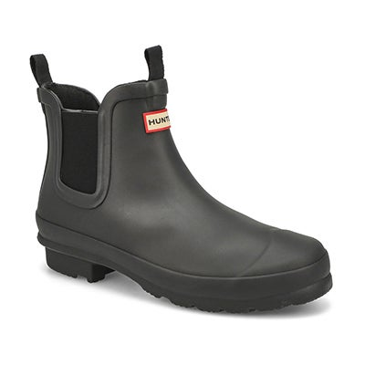 Hunter Kids' ORIGINAL CHELSEA black pull on boots