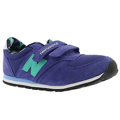New Balance Girls' 420 purple/teal hook & loop sneakers