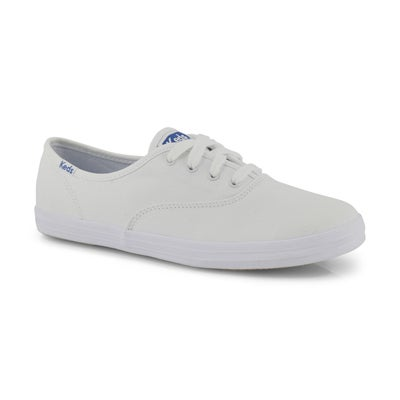 Keds Girls' CHAMPION white canvas sneakers