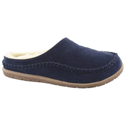 Foamtreads Men's LOGAN navy open back slippers