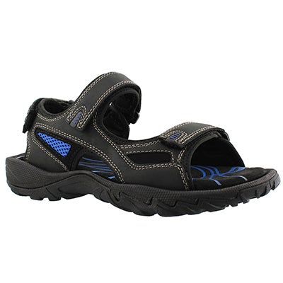 SoftMoc Men's LUCIUS black 3 strap sport sandals