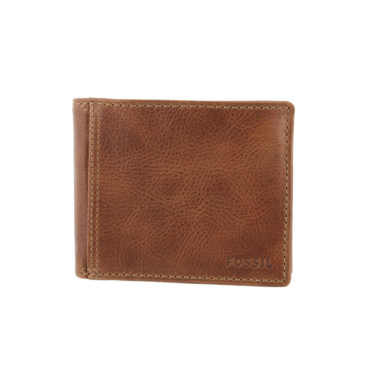 Men's BRADLEY SLIM bifold tan leather wallet