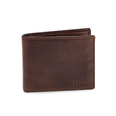 FOSSIL Men's DERRICK bifold dark brown wallet