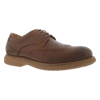 SoftMoc Men's MOTION cognac 4-Eye dress oxfords