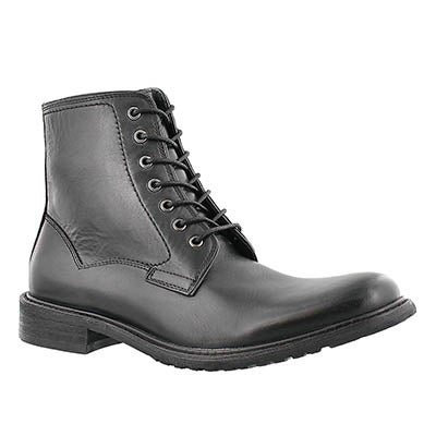 Mns Mountie blk 7eye oil lthr lace boot