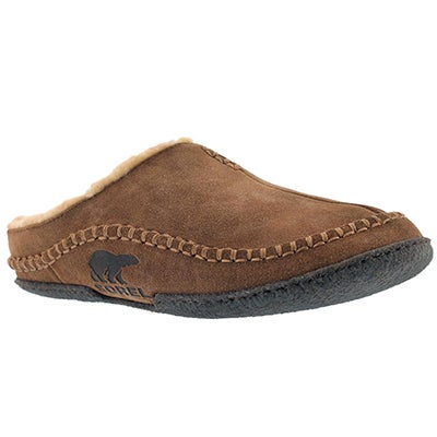 Sorel Men's FALCON RIDGE marsh suede open back slippers