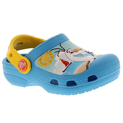 Crocs Kids' OLAF electric blue EVA comfort clogs