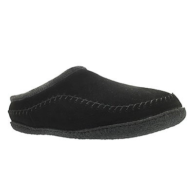 SoftMoc Men's PAULY III black suede open back slippers