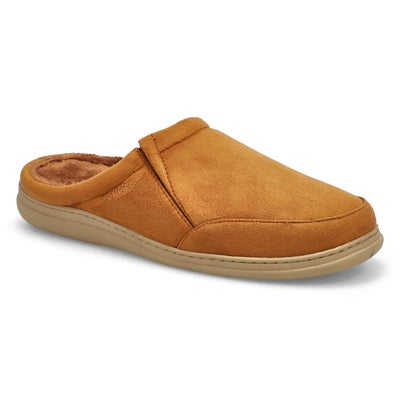 SoftMoc Men's POLAR II spice microsuede open back slippers