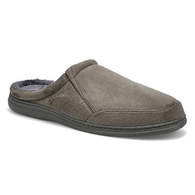 SoftMoc Men's POLAR II charcoal open back slippers