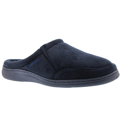 SoftMoc Men's POLAR II navy microsuede open back slippers