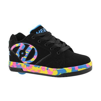 Heelys Girls' PROPEL 2.0 black/multi skate sneakers