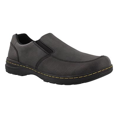 Mns Brennan black slip on casual shoe