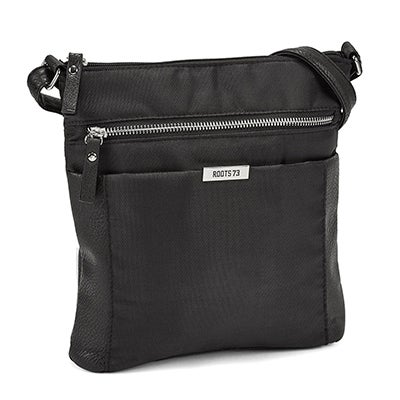 Roots Women's R5134 black north south crossbody bag