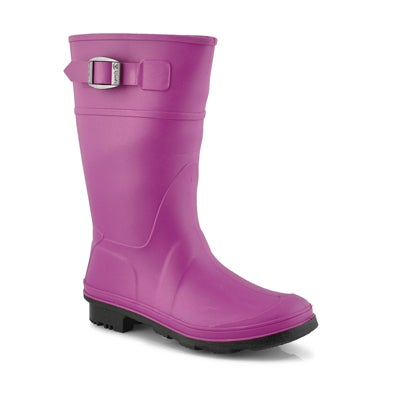 Kamik Girls' RAINDROPS viola waterproof rain boots