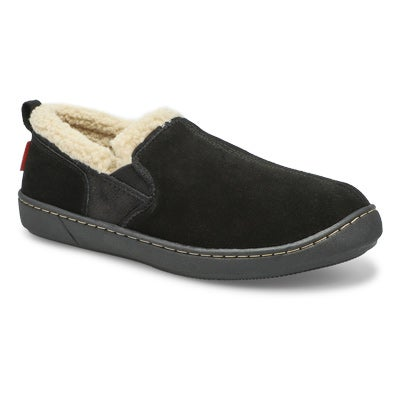 SoftMoc Men's REPETE black memory foam slippers