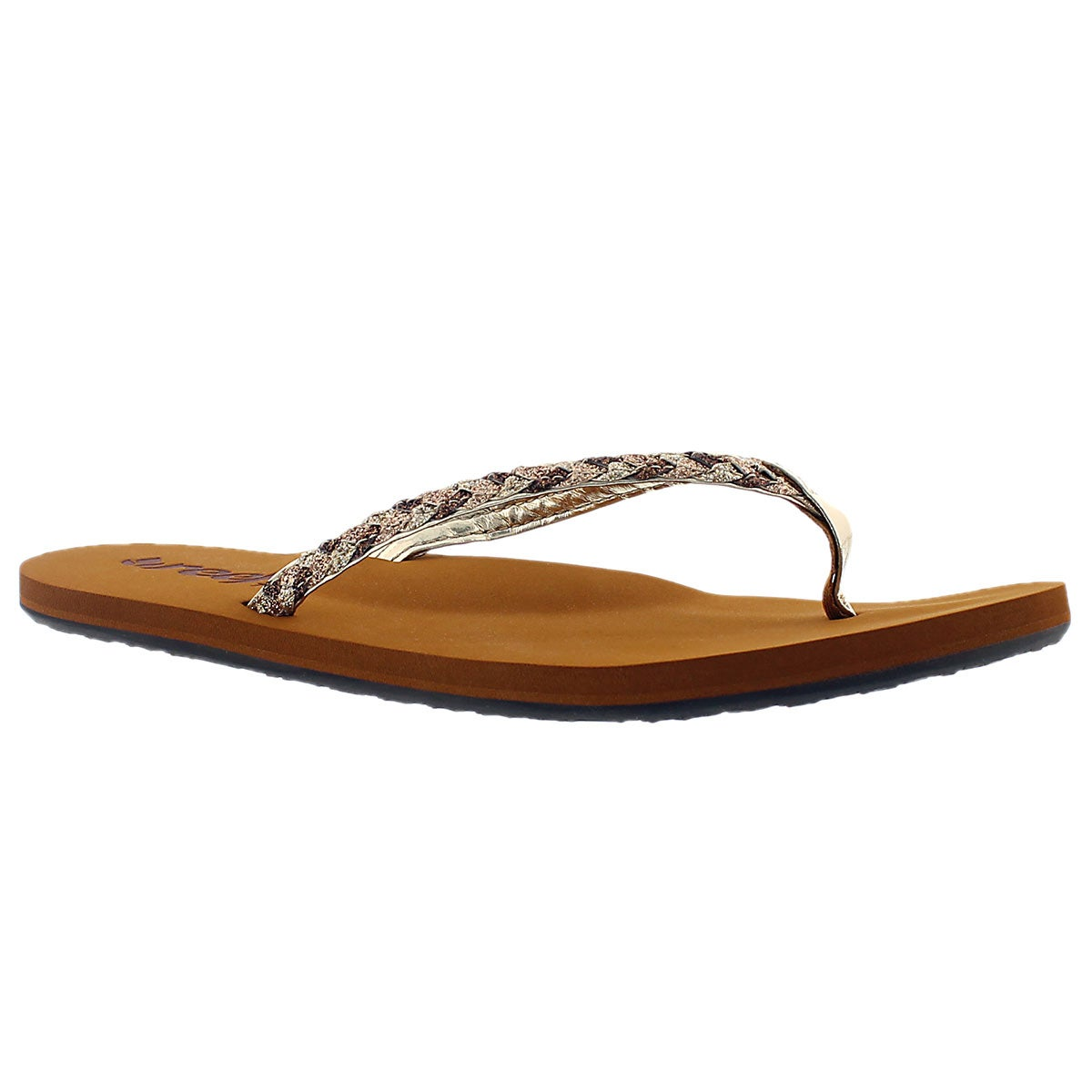 Lds Reef Twisted Stars tan/chmp flipflop