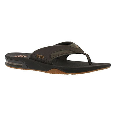 Reef Men's FANNING brown/gum thong sandals
